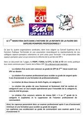 5 8 mars 2011 communique commun cgt cfdt fa spp pats sud refonte de la filiere sp