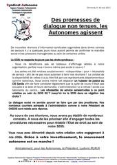 7 2 mai 2011 des promesses de dialogue non tenues