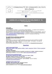 agenda de la semaine en pays bellemois n 76