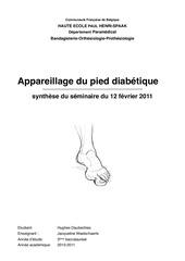 appareillage du pied diabetique hughes daubechies