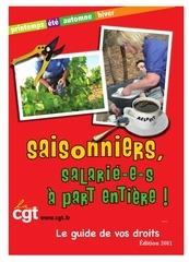 guide saisonniers 2011