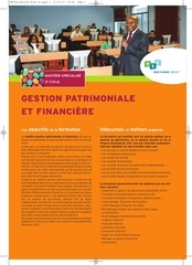 mastere specialise gestion patrimoniale