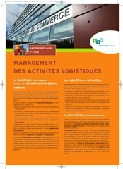 mastere specialise management logistique