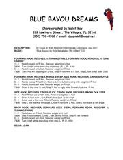 blue bayou dreams v o