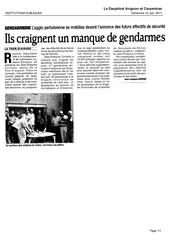 gendarmerie pertuis vaucluse matin