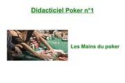 didacticiel poker n 1 les mains du poker