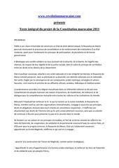 constitution marocaine 2011 francais