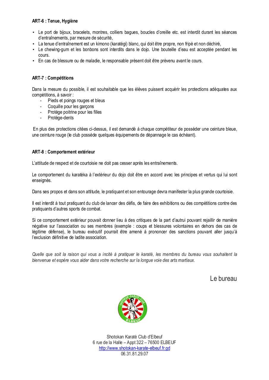 R glement int rieur par isabelle fichier pdf for Exemple reglement interieur association