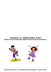 Fichier PDF pique nique 2011