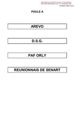 tournoi arevo 2011