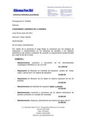 cotizaccion 000409 condominio jardines de la marina 05 06 2011