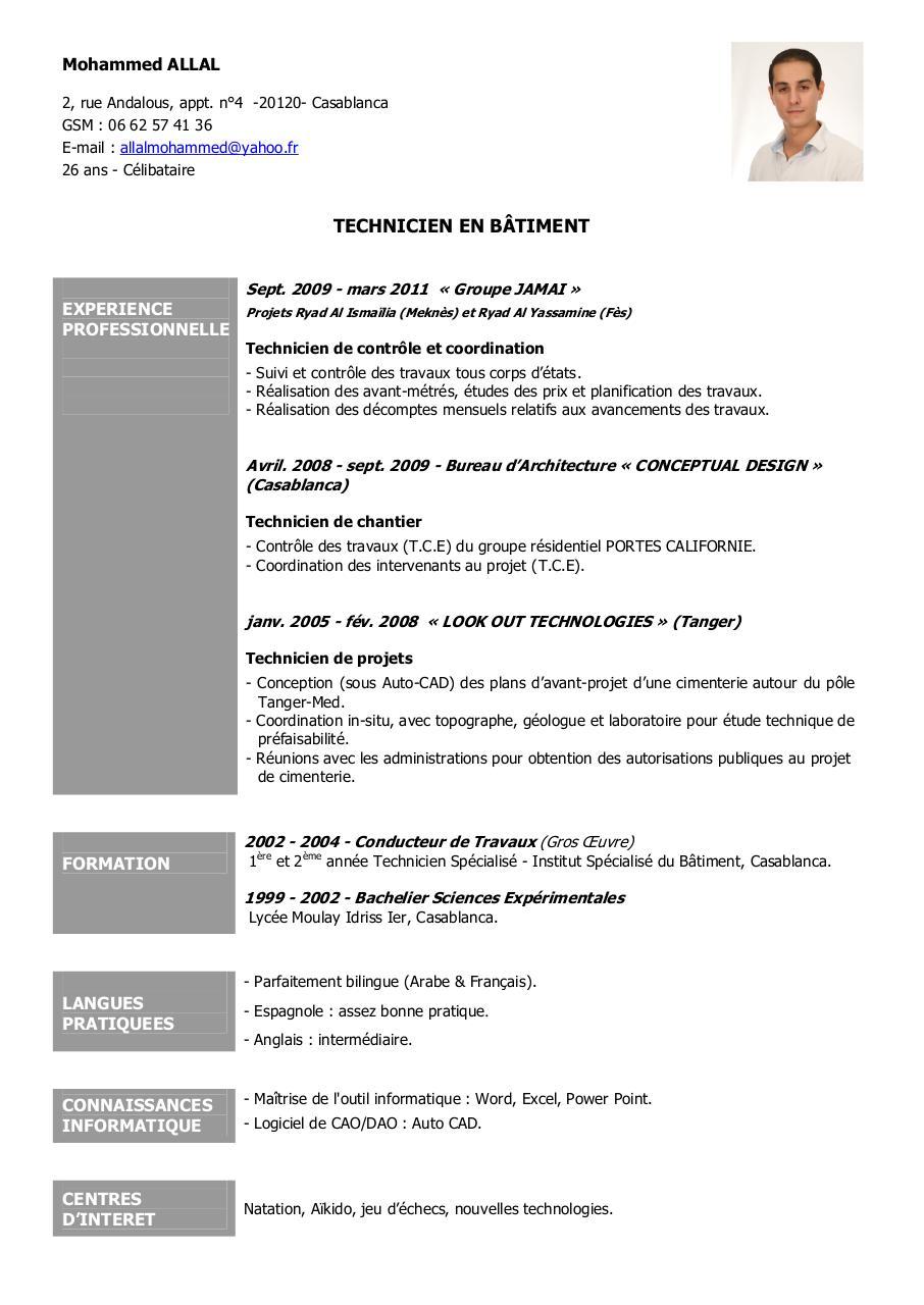 curriculum vitae bis pdf par abdesslam allal