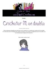 crocheter avec fil en double