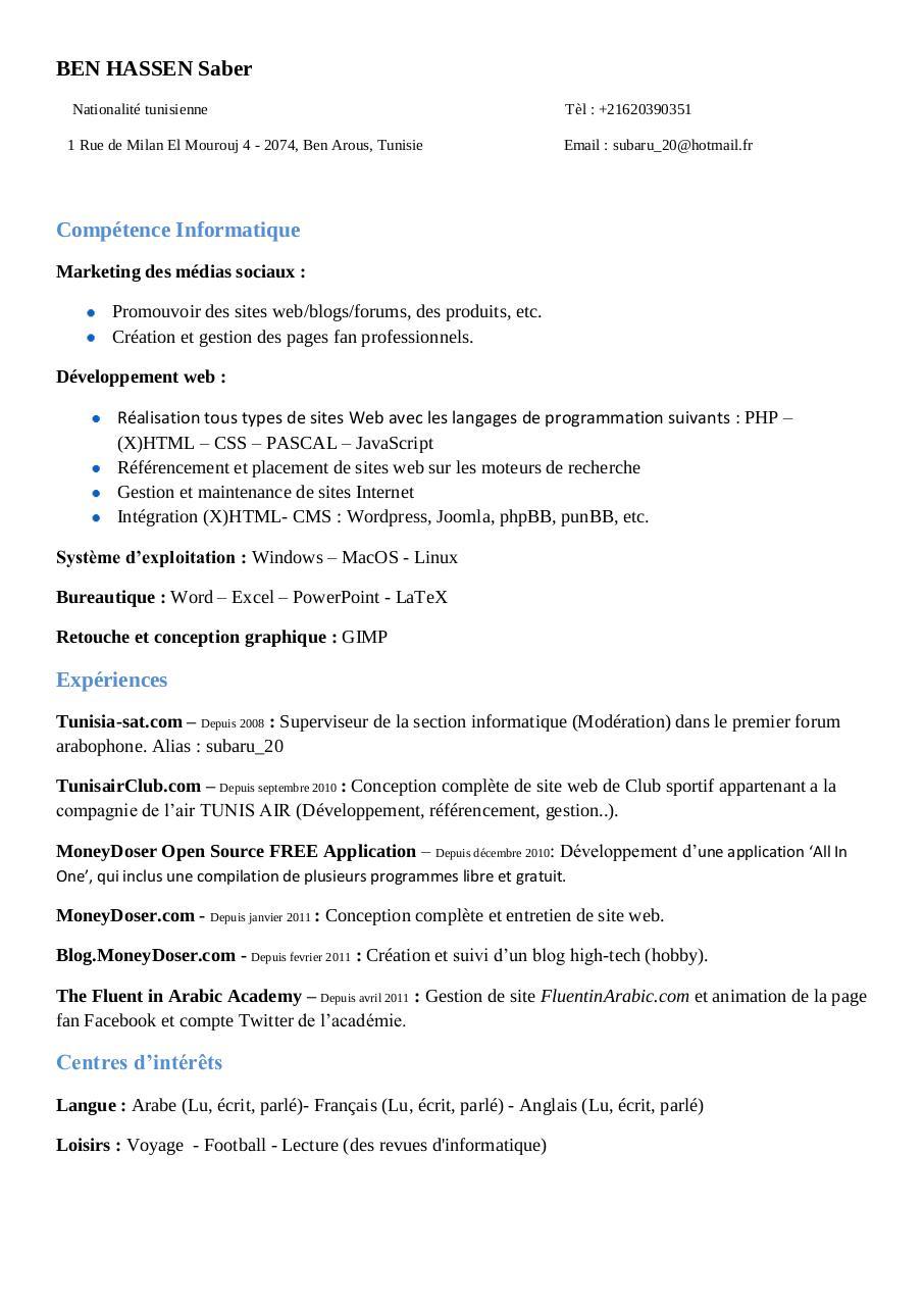 cv-ben hassen saber pdf par activated user