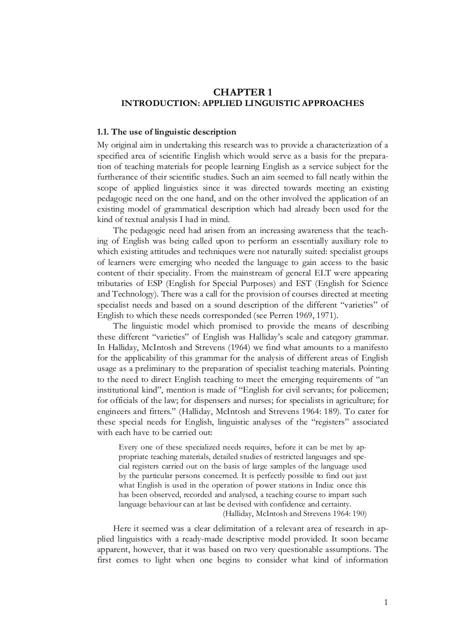An applied Linguistic Approach to Discourse Analysis by H.G. Widdowson.pdf - page 4/245