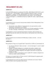 Fichier PDF reglement de jeu
