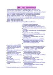 Fichier PDF 284 liens de concours 2011