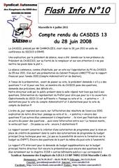 flash info n 10 cr casdis13 du 28 juin 2011