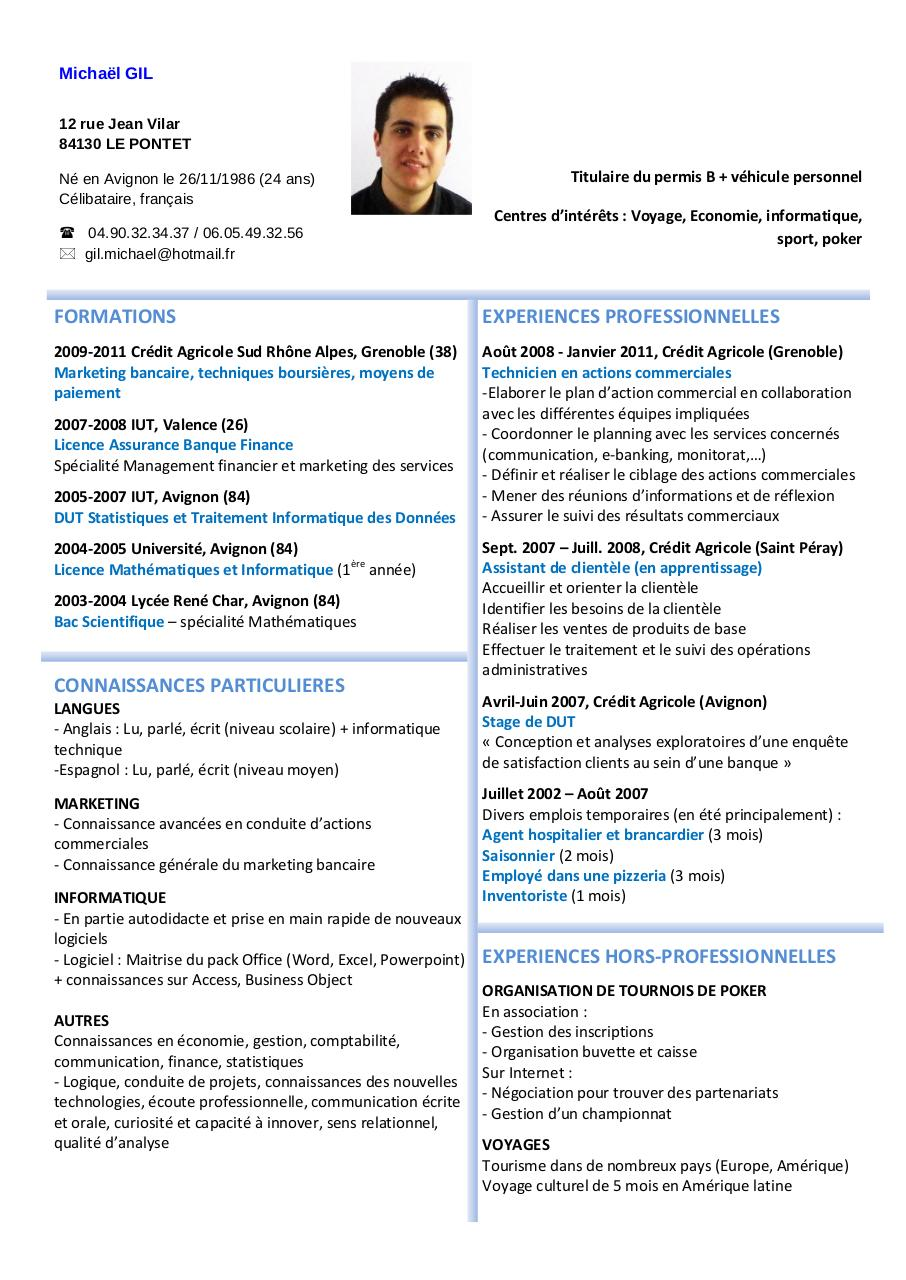Aperçu du document cv - Michaël GIL.pdf - page 1/1