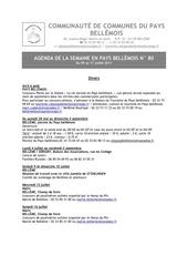 agenda de la semaine en pays bellemois n 80