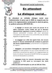 16 21 juin 2011 en attendant le dialogue social