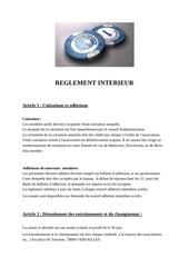 reglement interieur vthe 2012