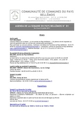 agenda de la semaine en pays bellemois n 81