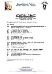 cowgirl crayz line stages nathalie pellet