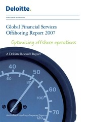 uk fs global financial services offshoring report 2007