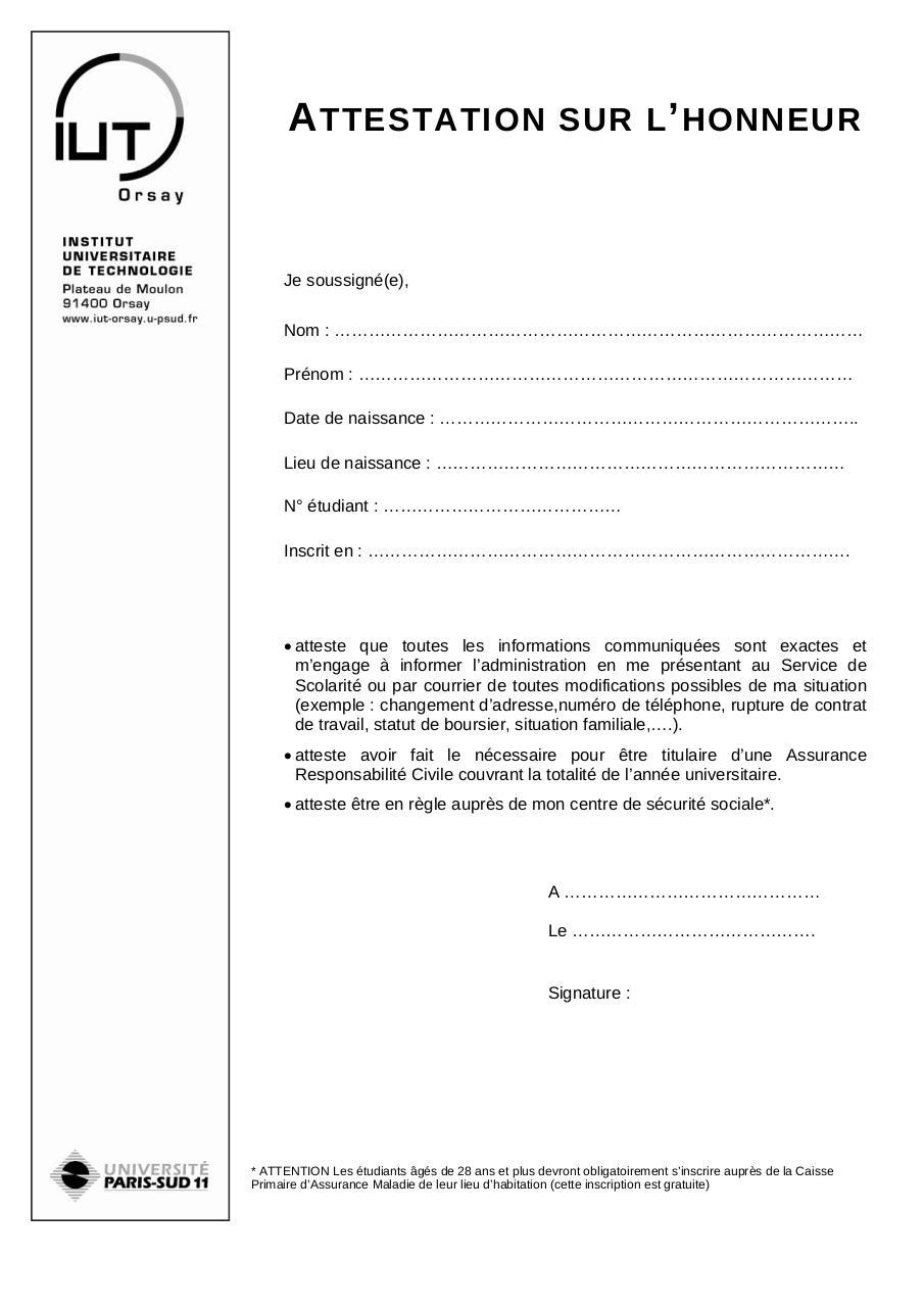 Recherche Pdf Attestation Assurance
