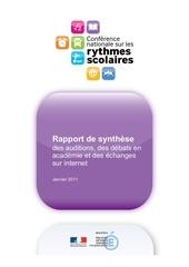 rythmes scolaires resume rapport de synthese janvier 2011 167269