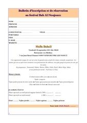 bulletin d inscription bab al noujoum