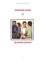 entretenir amiti et relations sociales