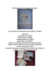 Fichier PDF tecnique pastel et coloration des tampons