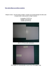 Fichier PDF tuto mini album accordeon