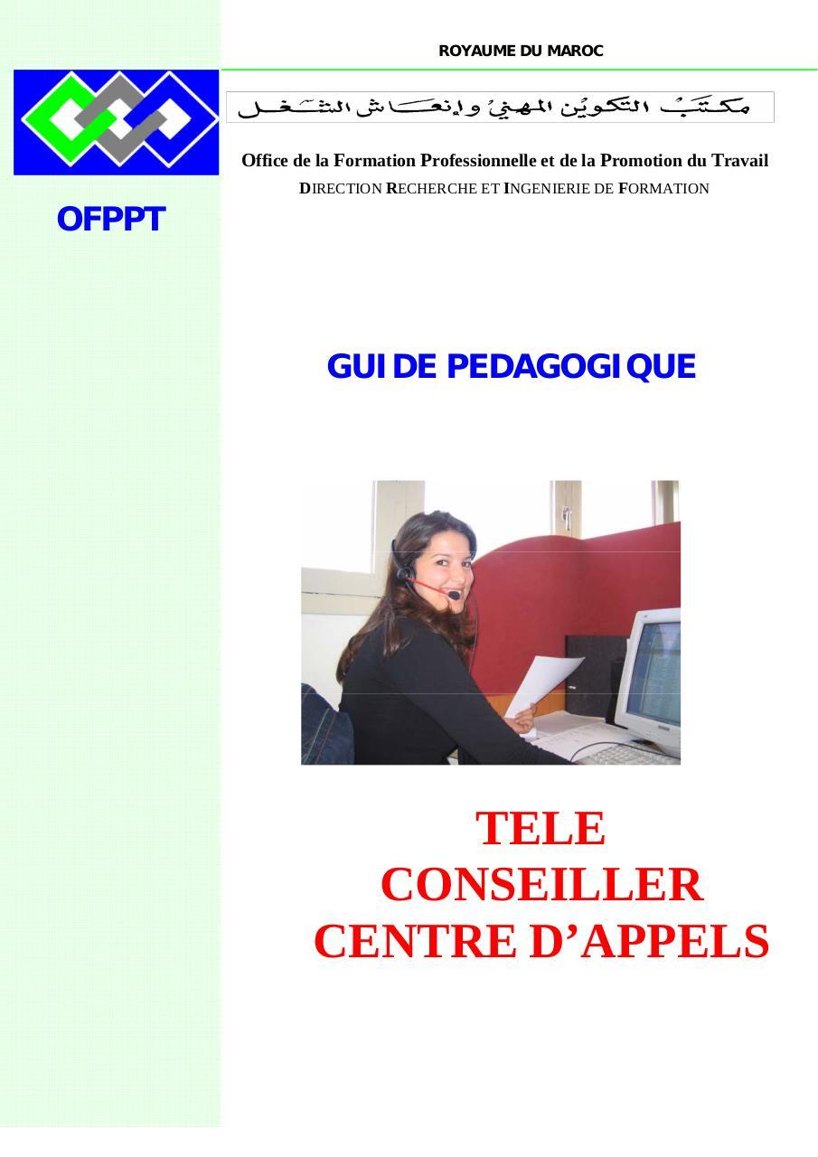 Aper u du fichier teleconseiller page 1 60 - Centre de telechargement office 2013 ...