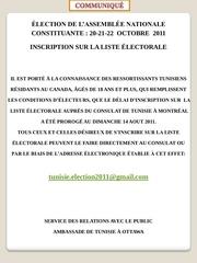 copie communique electoral