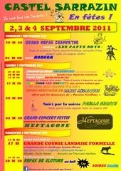 programme fetes de castel 2011 couleur