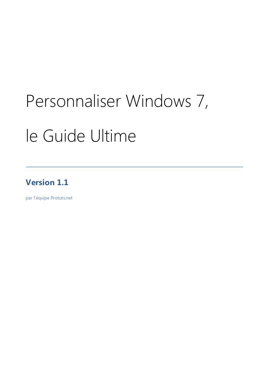 Aperçu du document Windows 7 - Personnaliser.pdf - page 1/38