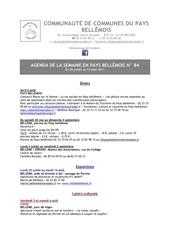 agenda de la semaine en pays bellemois n 84