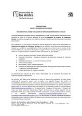 convocatoria evaluaci n de impacto programas sociales ds69