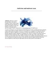 Fichier PDF antivirus malware scan