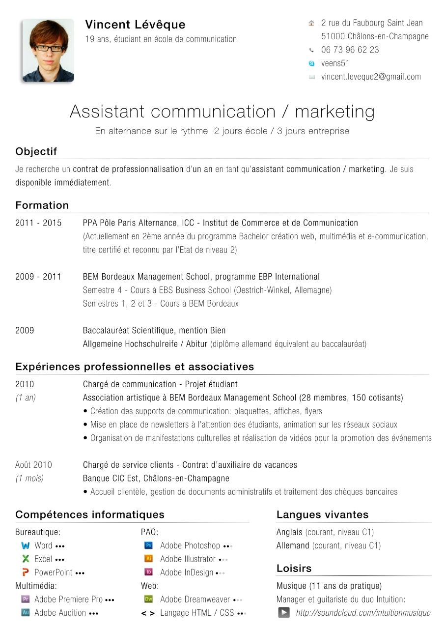 cv vincent leveque alternance  cv vincent leveque alternance pdf