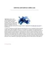 online anti virus scan