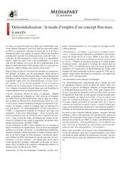 article demondialisation