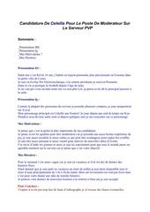 candidature de celeilla pour le poste de mod rateur sur le serveur pvp