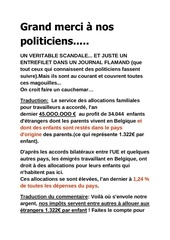 grand merci a nos politiciens