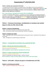 programmation 1ere 2011