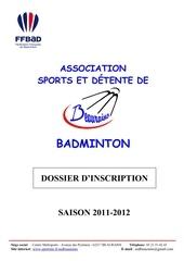 dossier d inscription bad 2011 2012 4 1