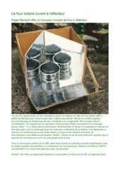 le four solaire ouvert a reflecteur nature ecologie permaculture environnement altermondialiste decroissant bioconstruction capitalisme antimondialisation